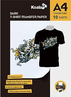 comprar comparacion KOALA Papel de transferencia de tinta para camisetas de oscuros, 10 hojas, A4.