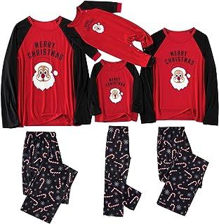 Pijamas Familiares Iguales de Santa, Conjunto de Pijama Navidad, Pijamas Niño Recien Nacido Bebe Mono Pijama Entero Mujer Hombre Baratos