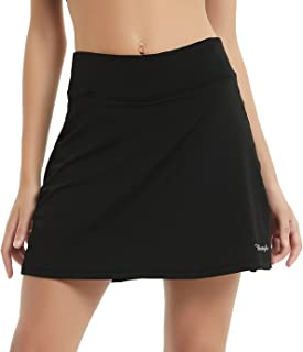 Ubestyle UPF 50+ Women's Active Athletic Skort Performance Skirt with Pockets for Running Tennis Golf Workout