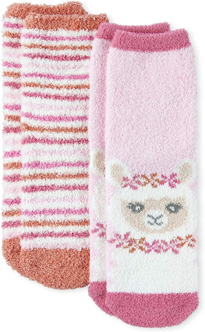 The Children's Place girls Llama Socks, Pack of Two