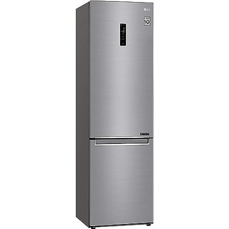Réfrigérateur combiné Lg GBB72PZDFN - Réfrigérateur congélateur bas - 384 litres - Réfrigerateur/congel : No Frost / No Frost - Dégivrage automatique - Inox - Classe A+++ / Pose libre