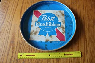 vintage pabst blue ribbon tray