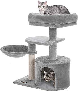 FEANDREA キャットタワー ミニ子猫やシニア猫にお勧め 省スペース 爪とぎ 高さ68cm NPCT59W