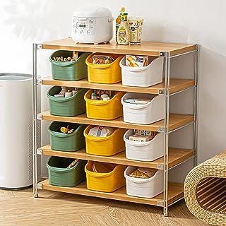 収納ボックス 収納バスケット プラスチック リビング収納 キッチン 食器棚 食品 野菜 果物 フルーツ バスルーム 洗面台 洗面所 化粧品 コスメ タオル おもちゃ 雑貨 ハンドル付き 組み合わせ 緑