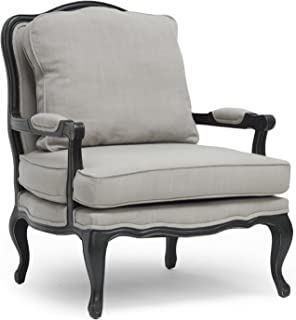 Baxton Studio Antoinette Classic Antiqued French Accent Chair, 39.75
