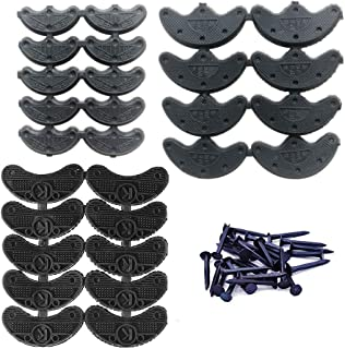 Heel Plates 28 Pairs Rubber Shoes Heel taps Tips Repair Pad Replacement with Nails Small, Medium,Large Size (3 Size,Black)