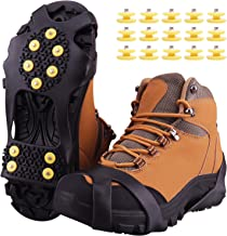 Matefielduk Non-Slip Gripper Spikes,1 Pair Super Elastic Snow Grips Crampons 5 Steel Studs Slip Ice Grips Anti-Slip Traction Cleats Ice /& Snow Grippers for Shoes and Boots for Women Men Kids