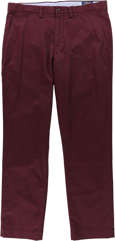 Ralph Lauren Mens Classic Casual Chino Pants, Red, 40W x 30L