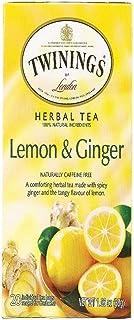 Twinings of London Lemon & Ginger Herbal Tea, 20 Count