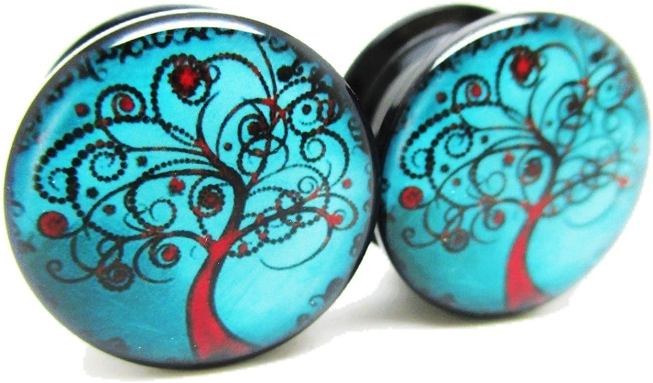 Pierced Republic Blue Red online shopping Tree of Plugs S 25% OFF - Ear Life Acrylic