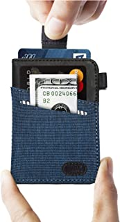 Ebax Minimalist Slim Wallet-New Idea Front Pocket Card Holder with Cash & Key (Sky Blue)