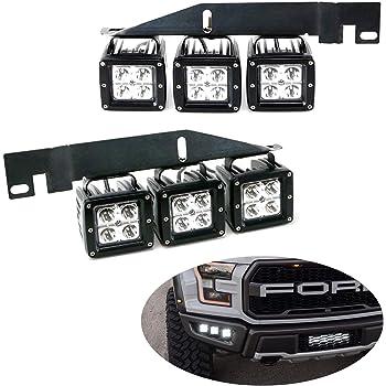 Fit 17-Up Ford F150 Raptor LED Fog Light Pod  Lower Bumper Bracket W//Switch Wire
