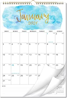 """2021 Calendar - 12 Months Wall Calendar of 2021, 12"""" x 17"""", Twin-Wire Binding, Large Blocks with Julian Dates Perfect for ..."""