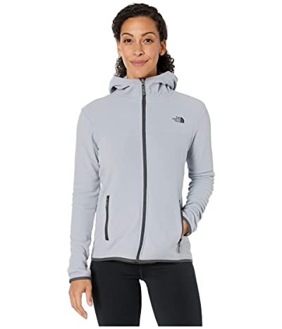 The North Face TKA Glacier Full Zip Hoodie (Mid Grey/Mid Grey) Women