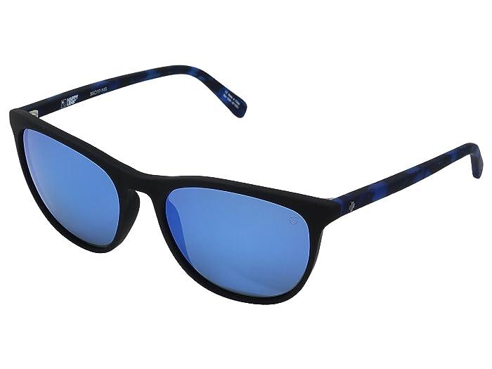 Spy Optic Cameo (Soft Matte Black/Navy Tort/Happy Gray/Green/Dark Blue Spectra) Athletic Performance Sport Sunglasses