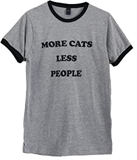 The Bold Banana Men's More Cats Less People Ringer T-Shirt