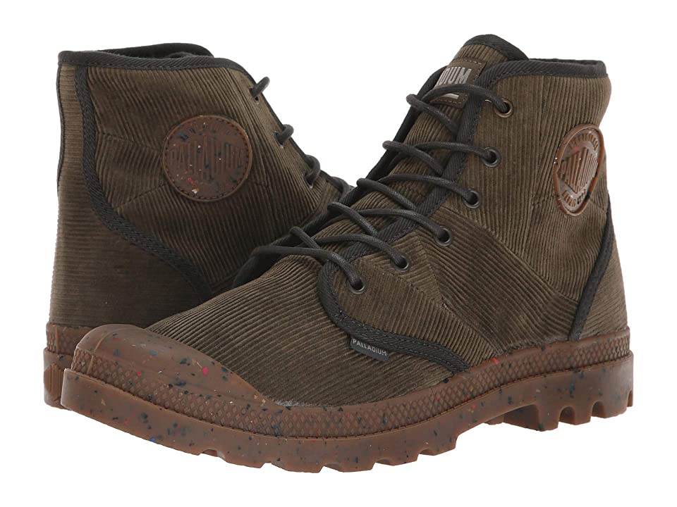 Palladium Pampa Hi Corduroy (Khaki Chocolate/Beluga) Men