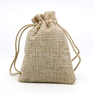 15 Pack Burlap Bags with Double Drawstring for Wedding Party Halloween and DIY Craft(4.9 Inch X 6.9 Inch)