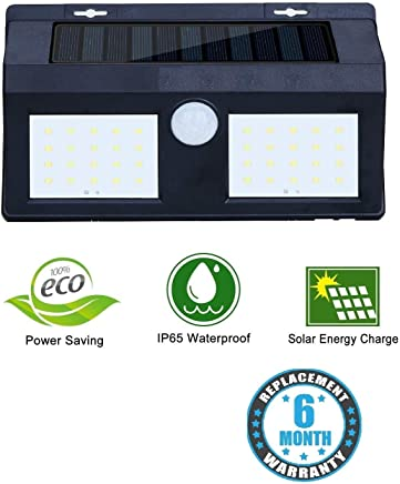 Sampri Motion Sensor Waterproof 40 LED Solar Light Solar Powered LED Garden Light White Light Outdoor Emergency Wall Lamp (Waterproof and Weather Resistance)