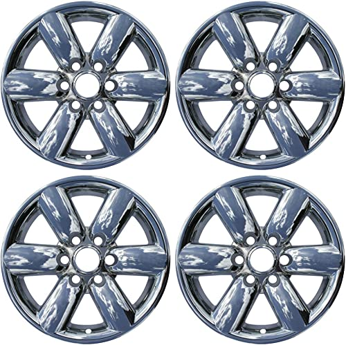 discount 18 inch Hubcap Wheel Skins for 2008-2015 Nissan Titan-(Set discount of 4) Wheel discount Covers- Car Accessories for 18inch Chrome Wheels- Auto Tire Replacement Exterior Cap Cover online