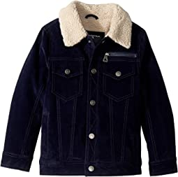 James PU Suede Sherpa Lined Five-Pocket Jacket (Little Kids/Big Kids)