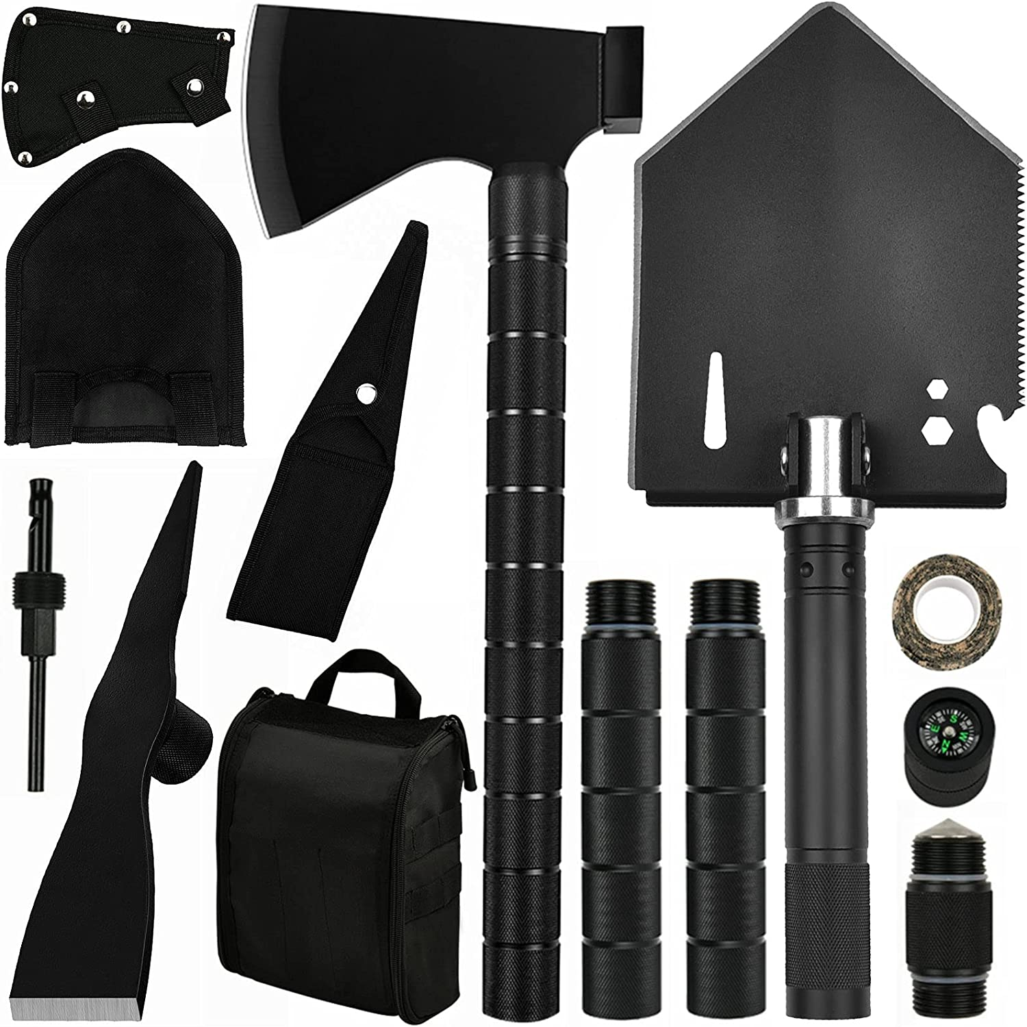 IUNIO Tucson Mall Survival Off-Roading Tool Kit Axe low-pricing Folding Shovel Camping