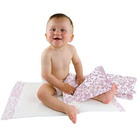 Teqler, fasciatoio per neonati: con diversi motivi, igienico e super assorbente, confezione da 50