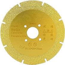 110mm Diamond Cutting Grinding Disc Brazed Saw Blade Porcelain Wheel Dry Corner Mill for Ceramic Glass Stones (#03)