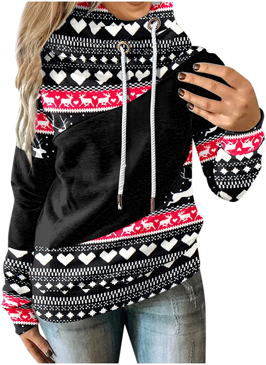 Christmas Safety and trust Hoodies Sale for Women Printed Gnome Graphic Reindeer Tops
