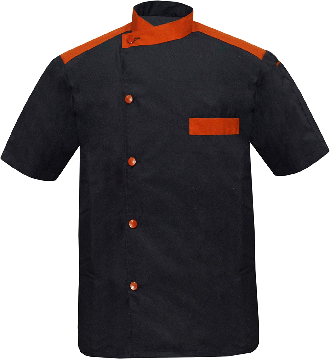 Leorenzo Creation DL-55 Men's Black Chef C in Many Soldering At the price Jacket Collar