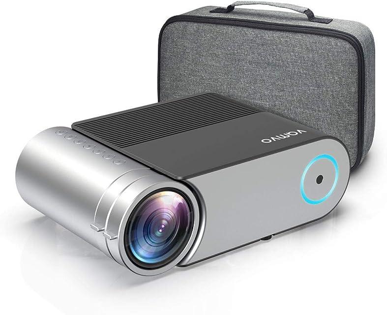 Proyector Vamvo Proyector Cine en Casa Portátil L4200 Mini Proyector 4000 Lúmenes 1280*720p Soporte Full HD 1080p de 50000 Horas Compatible con HDMI VGA AV USB etc.