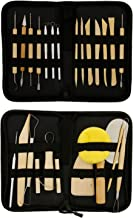 U.S. Art Supply 26-Piece Pottery & Clay Sculpting Tool Sets with Canvas Cases