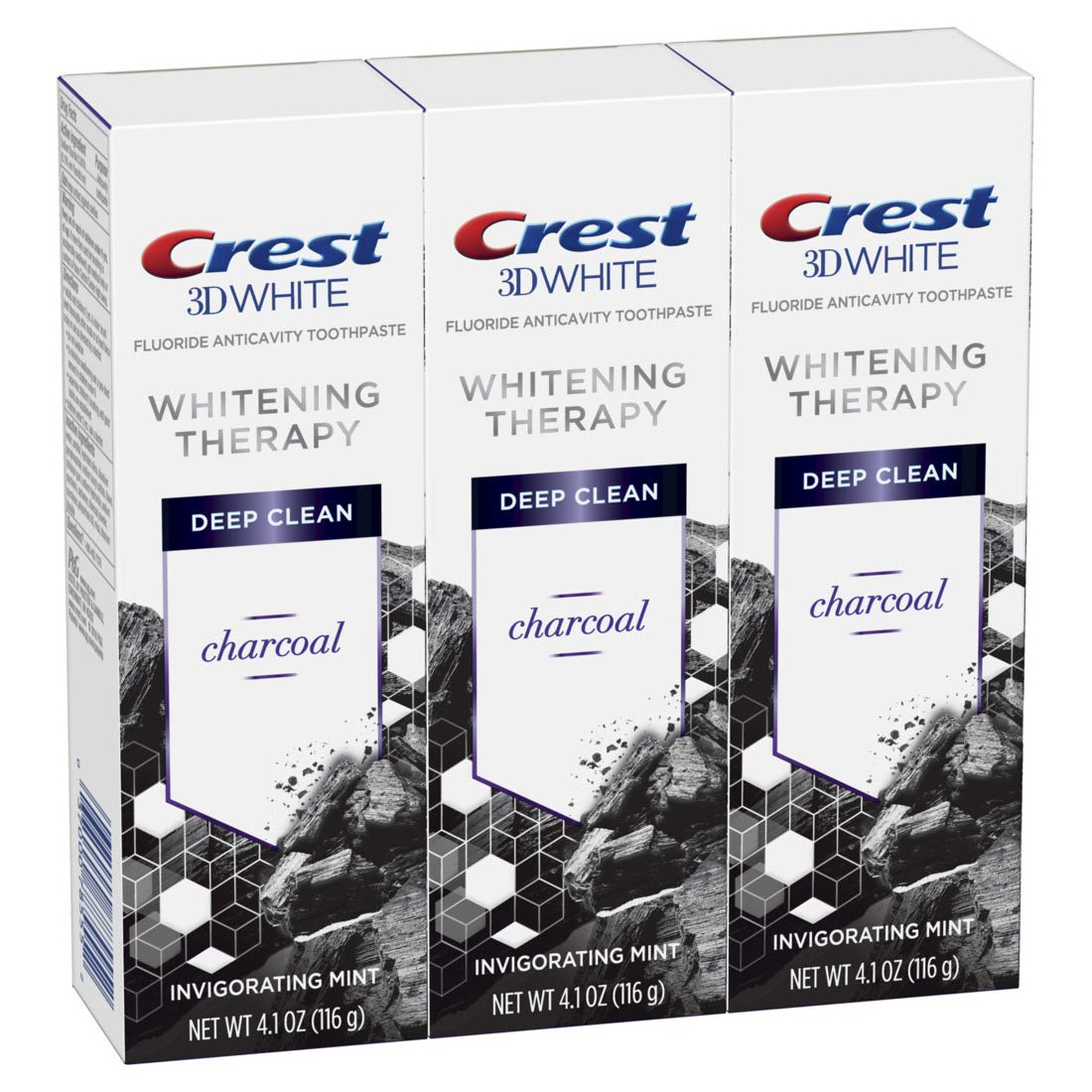 Crest Charcoal 3D Genuine White Max 73% OFF Toothpaste Clean Therapy Deep Whitening