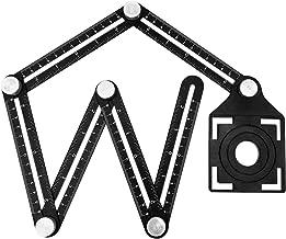 Régua de medição de vários ângulos, ferramenta de marcação de liga de alumínio, localizador de ângulos, régua de ângulo de...