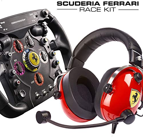 Thrustmaster Scuderia Ferrari Race Kit - Volante F1 + Cuffie Gaming Scuderia Ferrari F1 - PS4 / Xbox One / PC - [Escl...