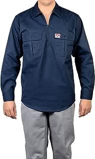 Half Zip Button-Pocket Long Sleeve Work Shirt