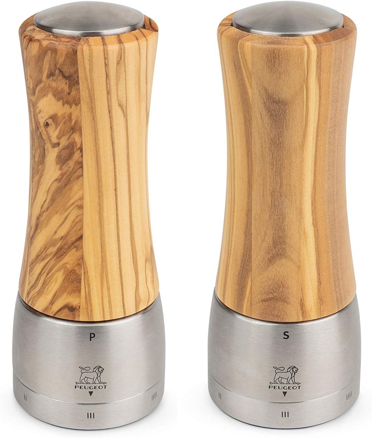 Peugeot Madras Ranking TOP12 u'Select Olive In stock Wood Set Mill Pepper Salt