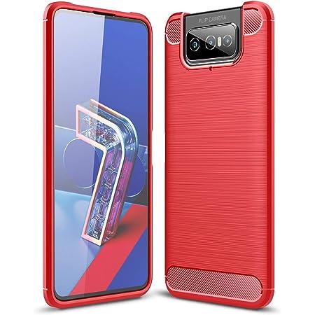 ASUS ZenFone 7(ZS670KL) / ZenFone 7 Pro(ZS671KL) ケース エイスース ZenFone 7 / ZenFone 7 Pro ソフトケース 【ELMK】ソフトTPUシリコーン素材 保護カバー ASUS ZenFone7 / ZenFone7 Pro 対応 (赤)