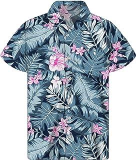 Agroupdream - Camisa hawaiana de manga corta, abotonada, ideal para llevar a la playa, estilo informal, prenda de verano, ...