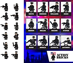 Army Men Minifigures Special Forces Brick Army Men Set of 16 Minifigures Toys Military Army Men Toys War Soldiers Action Figures Tank Motorcycle Plastic Gift Set Weapons Toy Soldier (City Police)