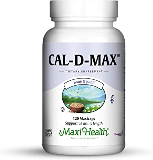 Maxi Health Cal-D-Max - Calcium Citrate - with Vitamin D3 - Bone Support - 120 Capsules - Kosher