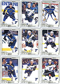 2018-19 O-Pee-Chee Hockey St. Louis Blues Team Set of 16 Cards: Vladimir Tarasenko(#30), Brayden Schenn(#41), Jake Allen(#71), Jaden Schwartz(#93), Alex Pietrangelo(#126), Alexander Steen(#167), Colton Parayko(#229), Vladimir Sobotka(#266), Kyle Brodziak(#274), Vince Dunn(#331), Oskar Sundqvist(#348), Tage Thompson(#381), Ivan Barbashev(#427), Carter Hutton(#462), Nikita Soshnikov(#463), Joel Edmundson(#472)