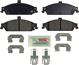 Bosch BE727H Blue Disc Brake Pad Set with Hardware for Select Chevrolet Classic, Malibu; Oldsmobile Alero, Cutlass; and Pontiac Grand Am - FRONT