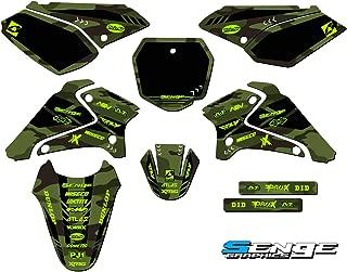 Senge Graphics kit compatible with Kawasaki 2003-2007 KLX 125, Apache Green Complete Graphics Kit