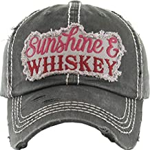 Women's Sunshine & Whiskey Vintage Baseball Hat Cap