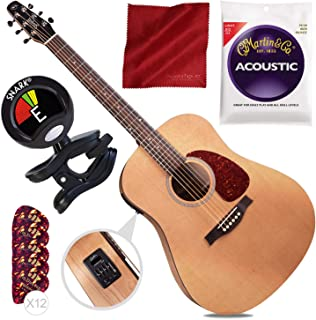 Seagull S6 Classic M-450T Acoustic/Electric Guitar + Tuner + Basic Accessory Bundle