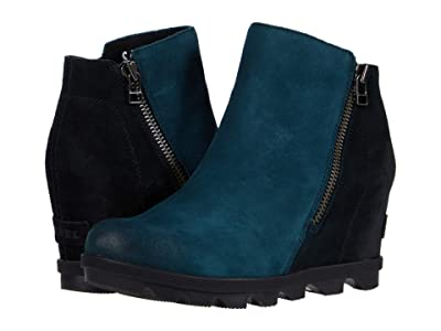 SOREL Joan of Arctic Wedge II Zip (Dark Seas) Women