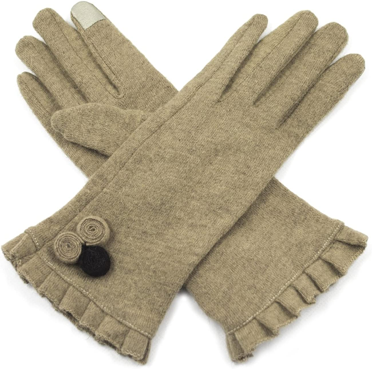 Dahlia Touchscreen Gloves for Women - Fleece Lined & Single Layer Winter Gloves