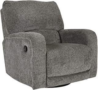 Signature Design by Ashley Wittlich Swivel Glider Recliner, Slate