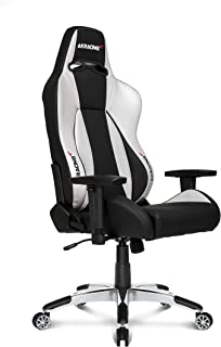 AKRacing Premium Series Luxury Gaming Chair with High Backrest, Recliner, Swivel, Tilt, Rocker and Seat Height Adjustment Mechanisms with 5/10 warranty (Silver)